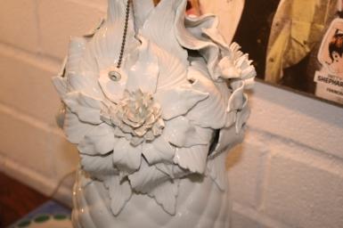 lámpara de manises mu restauracion detalle