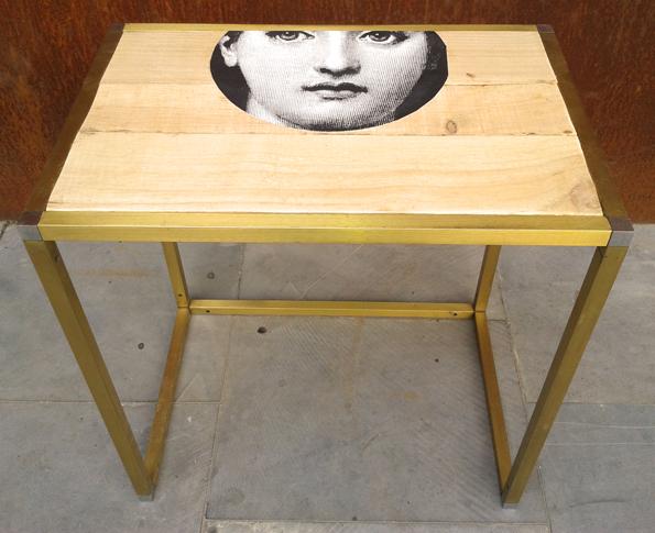 mesa Fornasetti, Mù Restauración, murestauracion, Mu Restauracion, frente