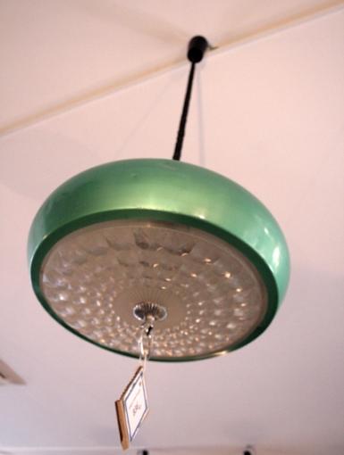 Lámpara techo extensible verde, años 70, Mù Restauración, murestauracion, mu restauracion 2
