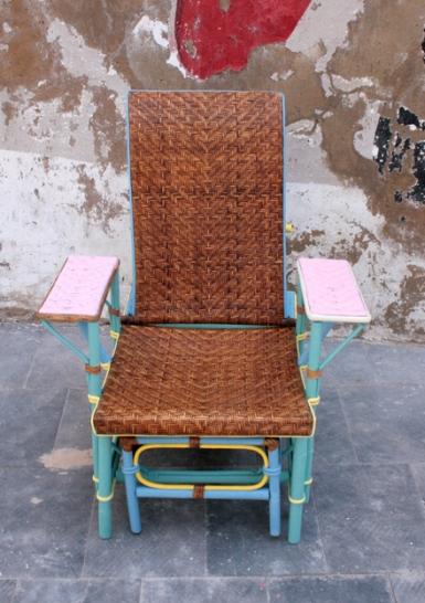 chaiselongue junco natural, frente, Mù Restauración, murestauracion, Mù, mùrestauración