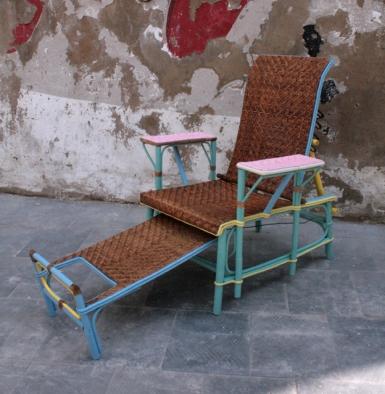 chaiselongue junco natural, perfil abierta, Mù Restauración, murestauracion, Mù, mùrestauración