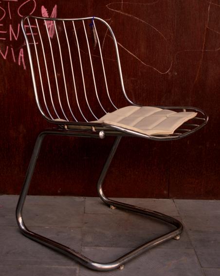 Silla metal cromado, Mù Restauración, murestauracion, vintage
