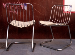 Silla metal cromado,3, Mù Restauración, murestauracion, vintage