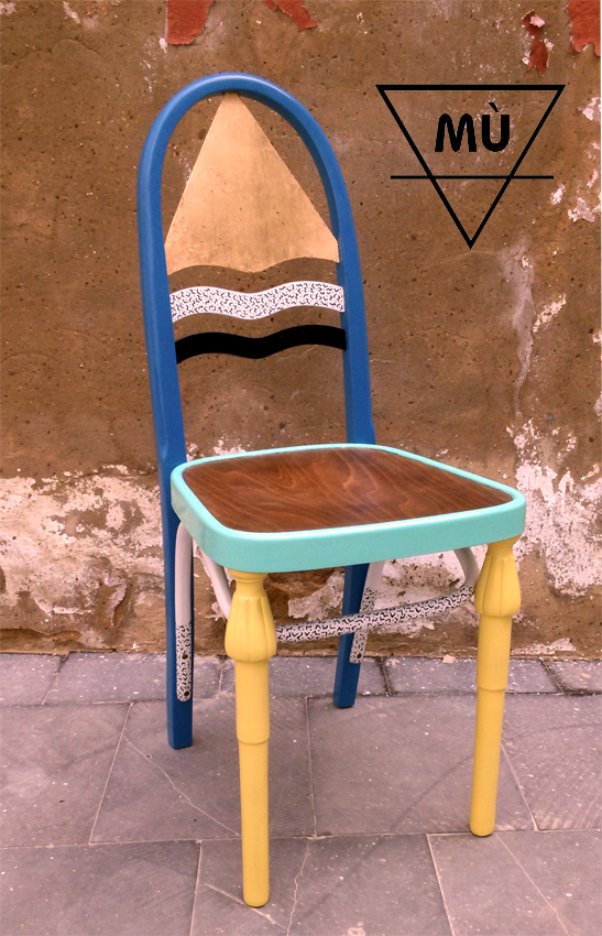 silla triangulo oro MÙ, Mù Restauración, murestauracion, Mù
