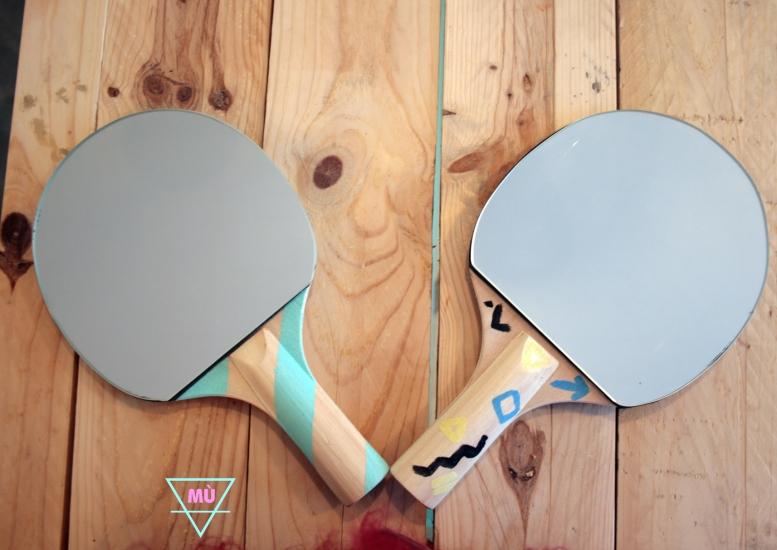 raqueta espejo, ping pong, MÙ